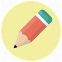 pencil, editor, Edit, write, graphic, Drawing, Draw PaleGoldenrod icon