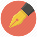 writing, Draw, Pen, document, Edit, Drawing, write Coral icon