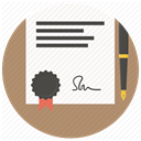 contract, paper, Agreement, document, Signature, Pen, Business RosyBrown icon