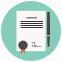 File, document, Business, Pen, paper, Agreement, contract Icon