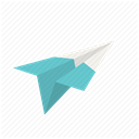 Letter, airplane, fly, Plane, send, Aeroplane, paper plane DimGray icon