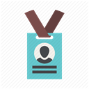 participant, member, profile, name tag, membership, Badge, member card DimGray icon