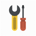 tools, Screwdriver, repair, fixing, Wrench, Fix, Building DimGray icon