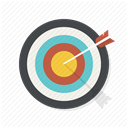 Target, bullseye, shoot, Arrow, Center, Aim DarkSlateGray icon