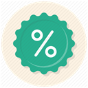 price discount, Discount, Badge, percentage, discount badge, sale, campaign LightSeaGreen icon