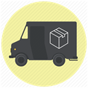 logistics, Courier, Shipping, truck, shipment, Delivery, transportation PaleGoldenrod icon