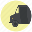 shipment, Shipping, transportation, truck, Delivery, Courier, logistics PaleGoldenrod icon