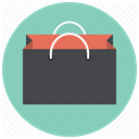 giftbag, shopping bag, Shop, shopping, Bag, paperbag, paper bag MediumAquamarine icon