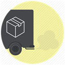 vehicle, logistics, Courier, express delivery, Shipping, Delivery, truck PaleGoldenrod icon
