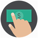 Hand, Money, payment, buy, pay, Dollar, Cash DarkSlateGray icon