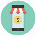 shopping, phone, Money, Dollar, buy, online, Shop MediumAquamarine icon
