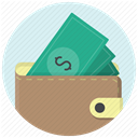 Cash, Dollar, wallet, Shop, Money, shopping, payment RosyBrown icon