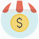 shopping, Dollar, Money, Price, Shop, Currency, store Lavender icon