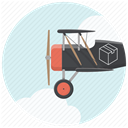 airplane, send package, delivery service, Plane, Courier, deliver, Shipping Lavender icon