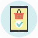 ipad, shopping, buy, shopping basket, shopping app, store app, Shop Lavender icon