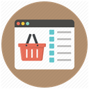 Shop, Basket, Browser, buy, ecommerce, shopping, shopping basket RosyBrown icon