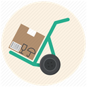 Cart, deliver, warehouse, cargo, package, cargo cart, Box Icon