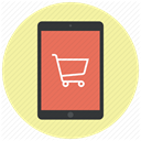 Cart, ecommerce, Shop, buy, shopping cart, ipad, shopping PaleGoldenrod icon