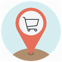 buy, navigation, Shop, Cart, pin, shopping, Address Lavender icon
