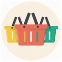 shoppers, shopping, buyers, Carts, Baskets, buy, shopping baskets Linen icon