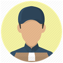 order, package, delivery services, deliver, Services, deliveryman, Courier PaleGoldenrod icon