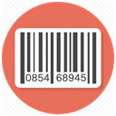 Bar code, product, Code, Bar, Barcode, product label, Shop Coral icon