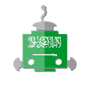 saudi arabia, flag, bot, telegram, Sa, robot Black icon