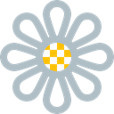 Flower, plant, daisy, Leaf, nature, floral, flowers Silver icon