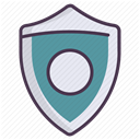 Firewall, safety, shield, protect, security, secure, Protection DimGray icon