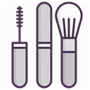 tools, mascara, Beauty, Makeup, fashion, Brush, Face DarkSlateGray icon