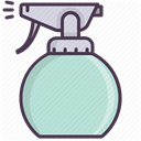 Air, Beauty, cosmetics, freshener, salon, Spray PowderBlue icon