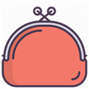 care, Makeup, Beauty, Bag, beautician, tools, cosmetics Salmon icon