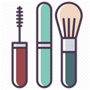 Makeup, Brush, Face, mascara, fashion, tools, Beauty DarkSlateGray icon