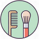 Brush, tools, hair, hairbrush, cosmetcis, care, Beauty LightGray icon