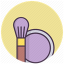 cheeks, Beauty, Makeup, cosmetics, Brush, Face, bronzator Khaki icon
