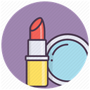 Beauty, Makeup, fashion, cosmetics, Mirror, tools, Lipstick DarkGray icon
