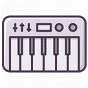 Appliances, piano, Device, electronics, music, synthesizer DarkSlateGray icon