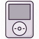 electronics, music, player, technology, Audio, ipod, sound DarkGray icon
