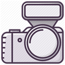 Camera, Device, electronics, Flash, Photographer, Appliances DarkSlateGray icon