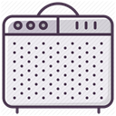 Box, guitar-amplifier, sound amplifier, instrument, guitar-amp, Amp, sound-producer Lavender icon