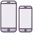 telephone, size, mobilephone, phone, smartphone, Iphone, Device Lavender icon