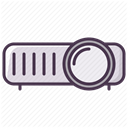 Projector, projector device, video, Projection, projection device DimGray icon