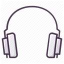 Headphone, hear, music, listen, play, Headset, Audio DimGray icon