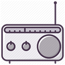 sound, radio, music, Device, equipment, Appliances, electronics DarkSlateGray icon
