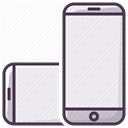Device, telephone, rotate, phone, Iphone, smartphone, mobilephone Lavender icon