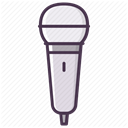 music, Microphone, Device, Audio, sound, record, mic DimGray icon
