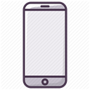 Device, smartphone, Iphone, telephone, Mobile, mobilephone, phone DimGray icon