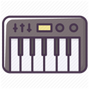 piano, synthesizer, music, Appliances, electronics, Device DarkSlateGray icon