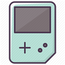 entertainment, game device, video game, Game, Gameboy PowderBlue icon