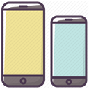 size, Device, telephone, Iphone, phone, mobilephone, smartphone Khaki icon